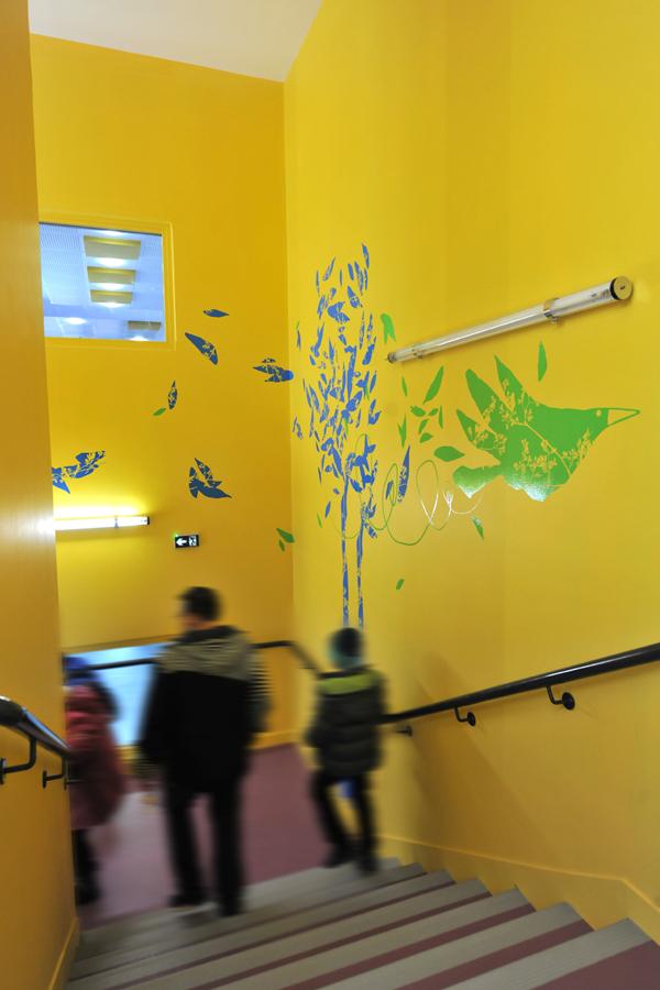 Design mural pour le centre de loisir d'argenteuil