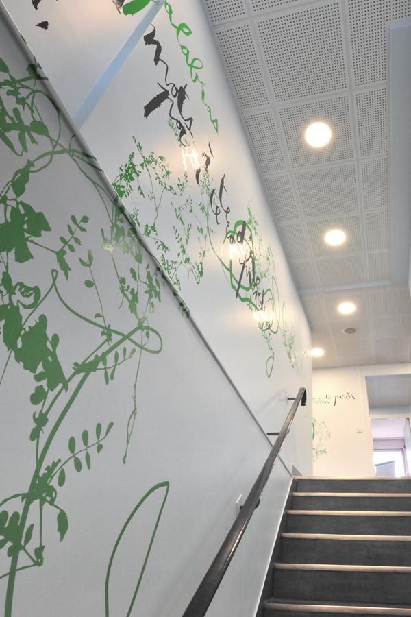 Berlitz Boulogne-Billancourt - Design mural semi-mesure