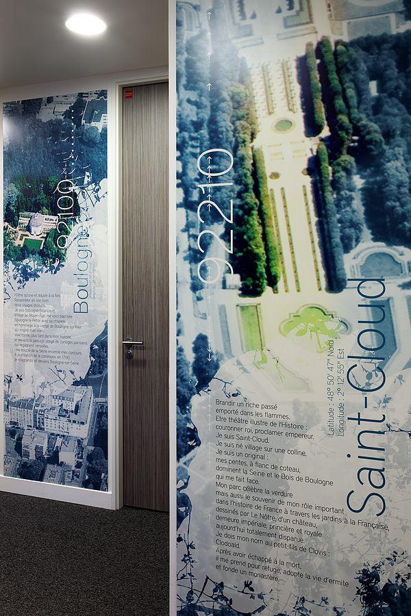 Siège social de Bouygues Telecom - Design mural sur-mesure