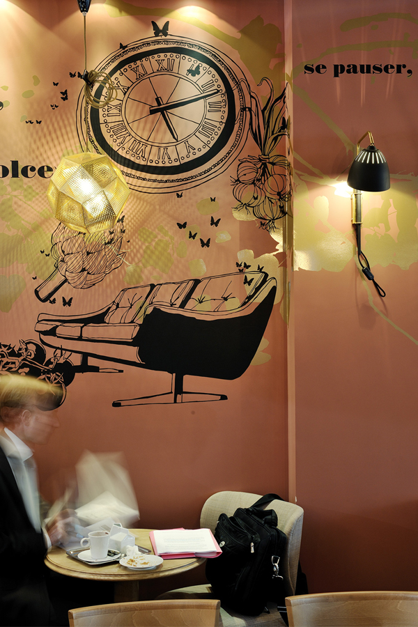 Brasserie Le Préaumur - Design mural sur-mesure