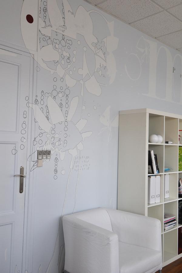 Maison d'édition - Design mural sur-mesure