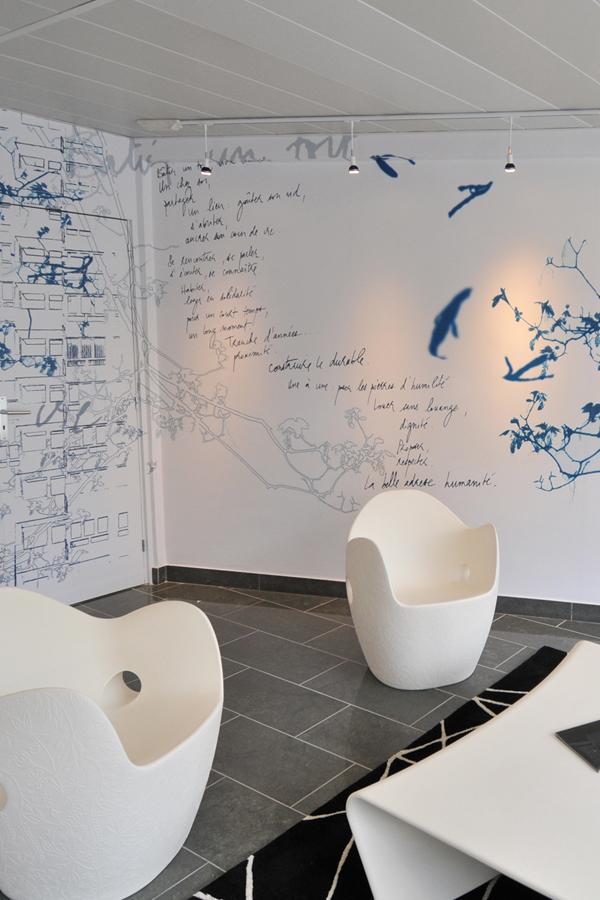 Siège Eure habitat - Design mural sur-mesure