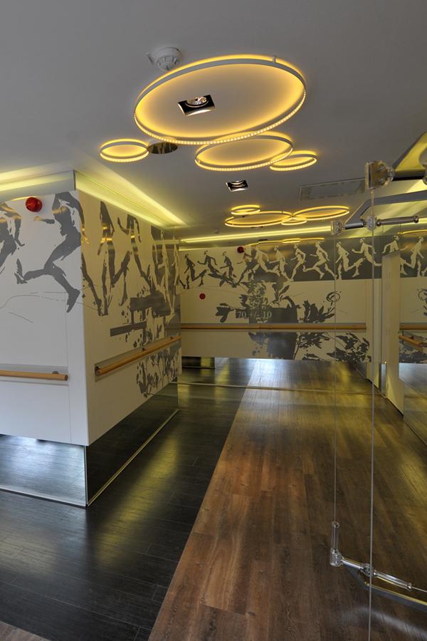Fitness Novotel Les Halles - Design mural sur-mesure