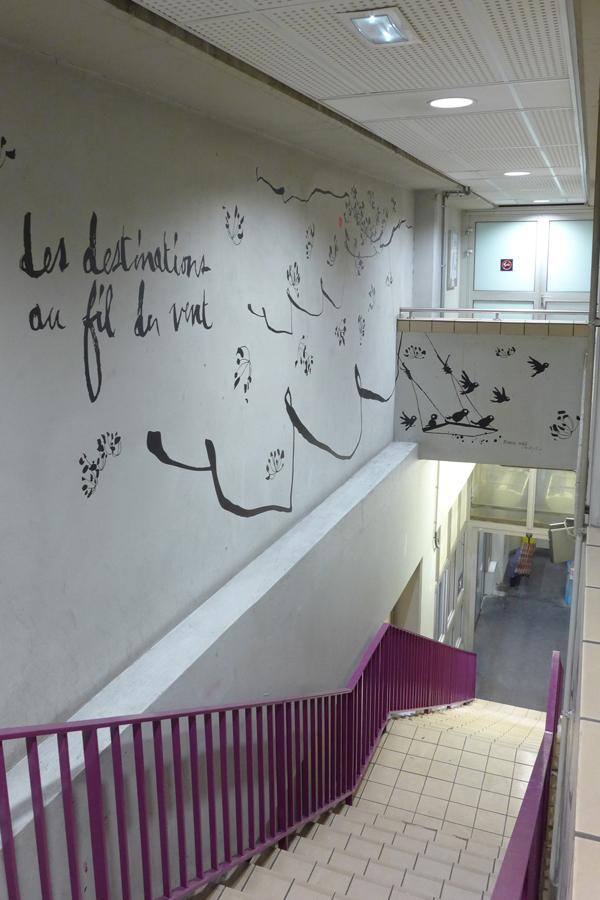 Gare de Rouen - Design mural semi-mesure