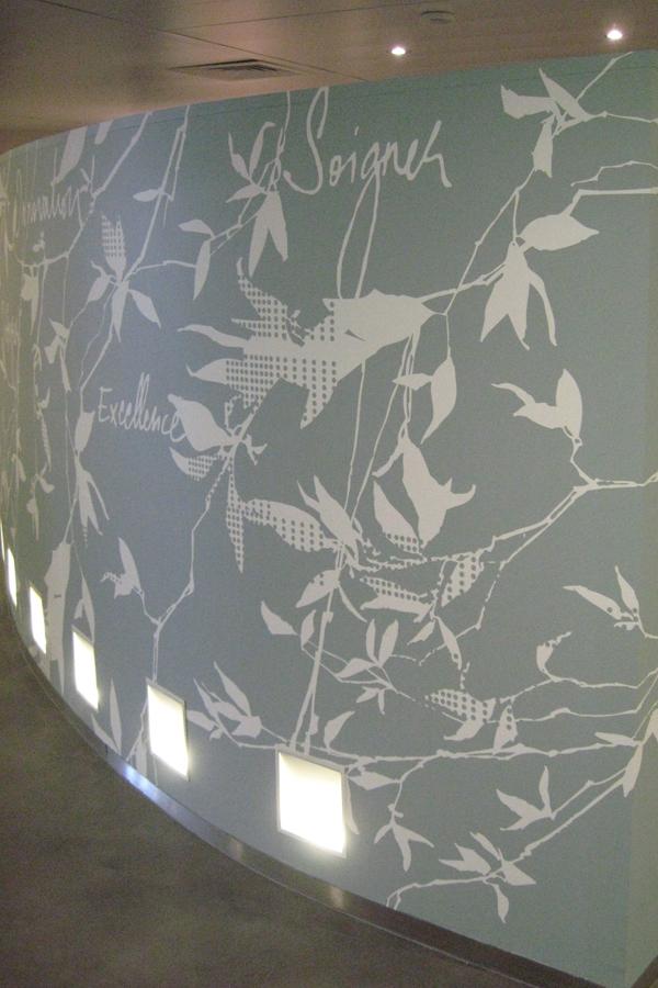 Institut Gustave Roussy - Design mural sur-mesure