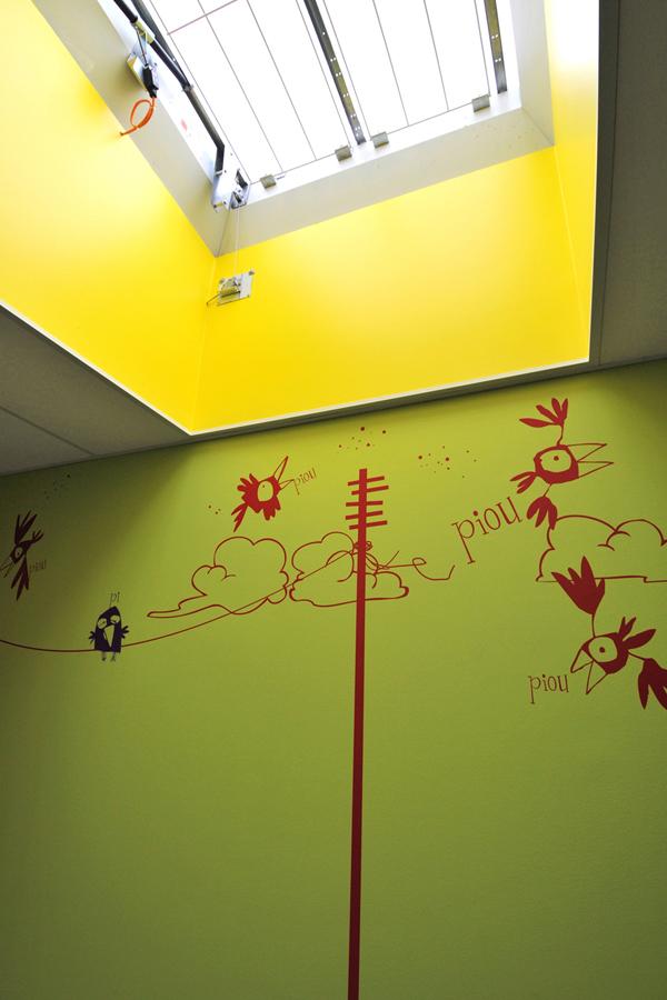 Centre hospitalier du Belvedère - Design mural semi-mesure