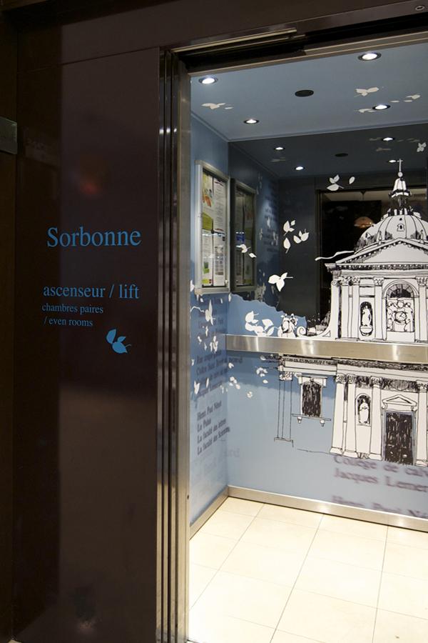 Hôtel Mercure Sorbonne - Design mural sur-mesure