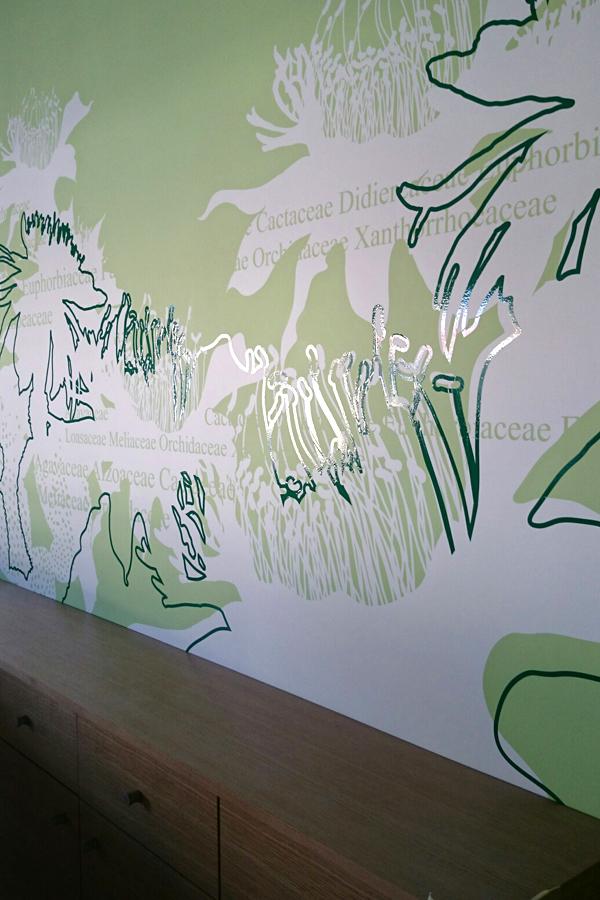 Boutique Jardin exotique de Monaco - Design mural sur-mesure