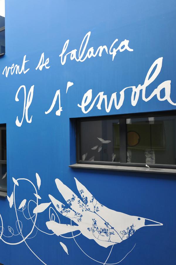 Design mural pour le patio du centre de loisir d'argenteuil P. Brossolette