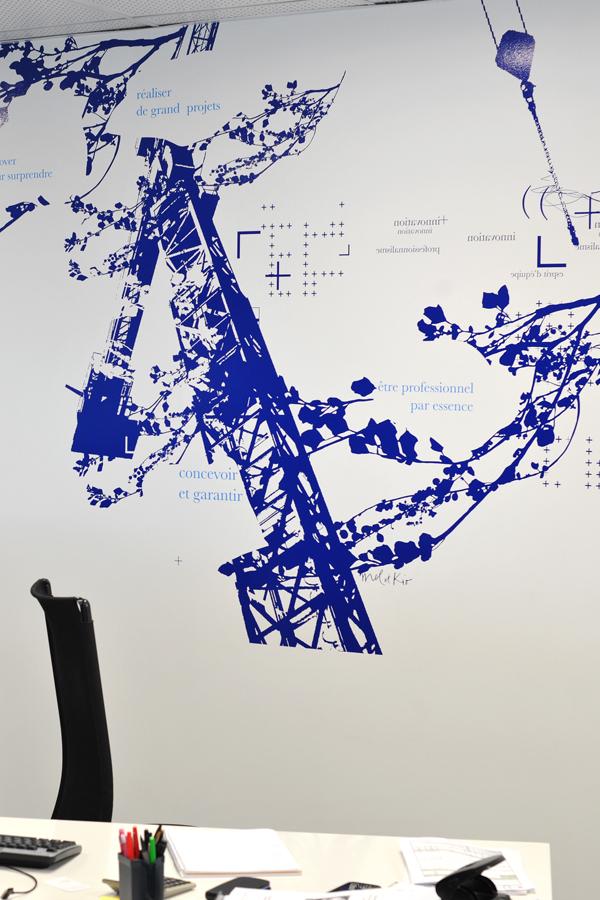 Pragma BTP - Design mural sur-mesure