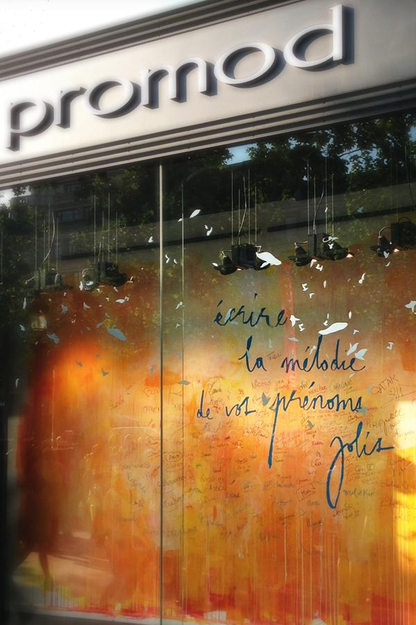 Promod Champs-Elysées - Design mural sur-mesure