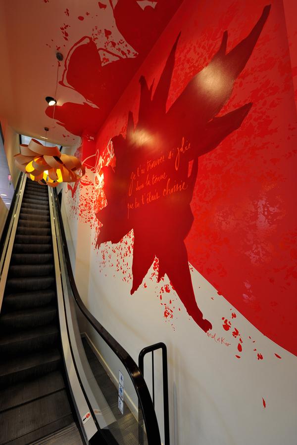 Promod Autriche - Design mural sur-mesure