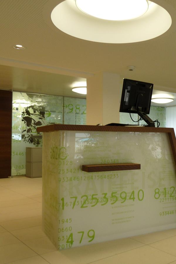 Raiffeisen Banque - Vitrophanie