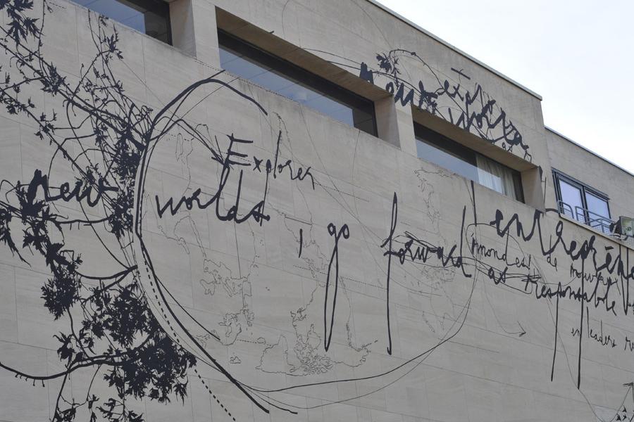 Le Prédeau - Décoration murale extérieure - Façade - Neoma business school