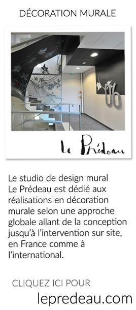 Le studio de design mural Le Prédeau est dédié aux réalisations en décoration murale selon une approche globale allant de la conception jusqu'à l'intervention sur site, en France comme à l'international.