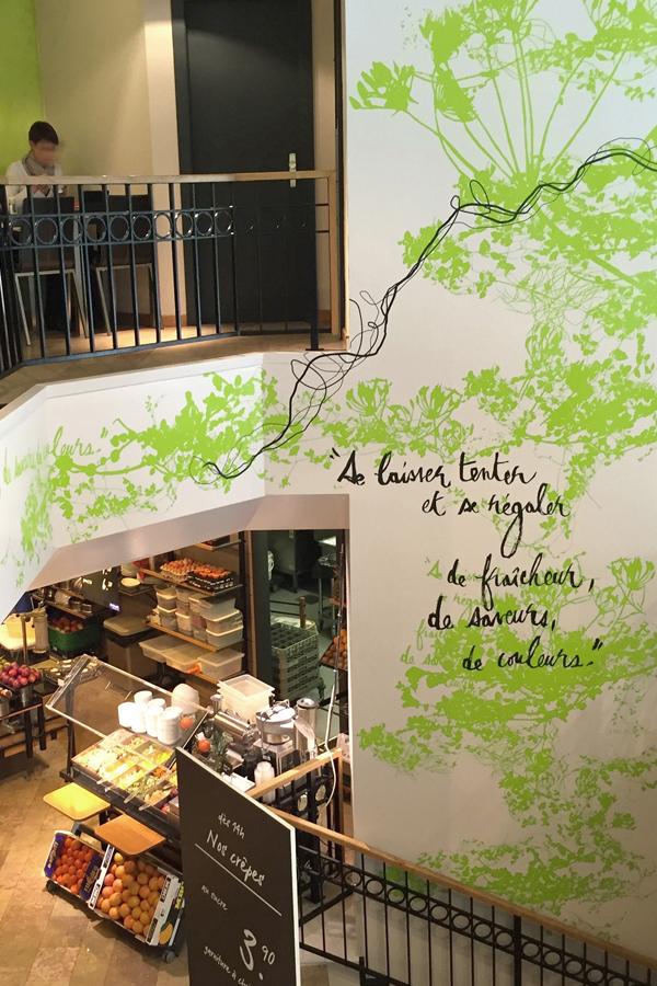 Le Predeau - décoration murale restaurant - manora sion